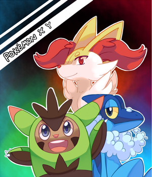 Pokemon X and Y second evolution starters by pekou