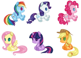Mane 6 Plushies by Jojuki-chan