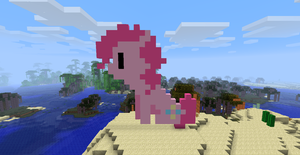 Pinkie Pie Pixel Minecraft by MissiTofu