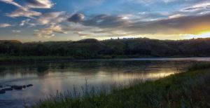 Old man river sunset by Shano11