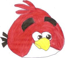 red angry bird by the-legend-of-smosh