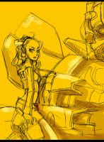 Mikaela and BumBleBee by piyo119