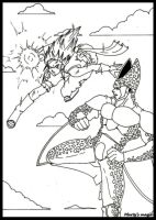 Cell vs OC II by deviart4ever