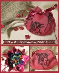 Pink Unicorn Pouch for Dice, Runes, Coins etc. by ImogenSmid