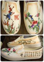 Harmony and Peace Shoes by someorangegirl