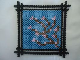 Cherry Blossom Frame by PerlerHime