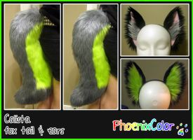 Calista fox tail/ear set by PhoenixColor