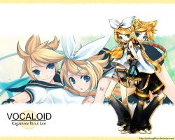 Kagamine Rin x Len wallpaper by JarshaNighhow