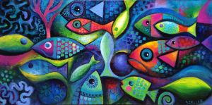Colourful Fishes by karincharlotte
