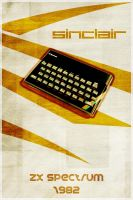 ZX Spectrum - Retro Poster by Euskera