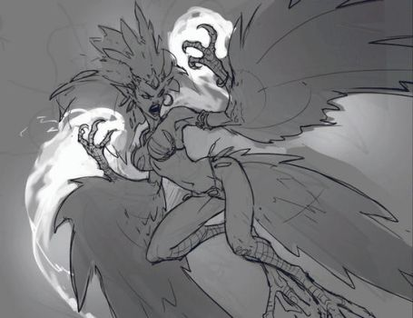 Harpy Matriarch Process by Mr--Jack