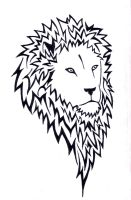 Lion facing right by wolfds