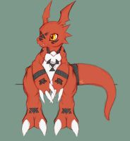 Guilmon! by TurquoiseWolfStar7