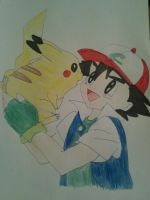 Ash and Pikachu by Jelenadbz