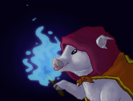 Piggy Wizard by CaptainAley