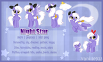 Night Star reference sheet by vanille913