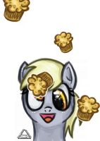 Request - Derpy Loves Muffins by SleepyHeadKL