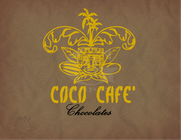 COCO CAFE logo by michaelgoldthriteart