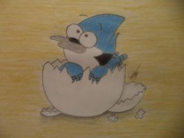 Chibi Mordecai by VinylStrach