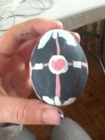 Weighted Companion Cube Easter Egg by snowsuper123