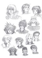 Anime Character Sketch Dump by ShenaniBOOM