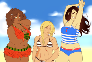 :C: Beach bodies by Lanokir