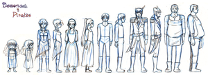 Demons and Pirates lineup sketch by Super-kip