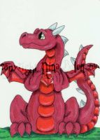 Birthstone Dragon July ACEO by The-GoblinQueen