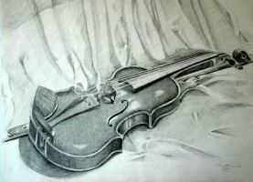 study of a violin by samster12