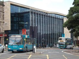 Newcastle Uni / Buses by MrDragonfyr-Stock