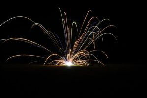 Fireworks on the ground by CrazypersonA4