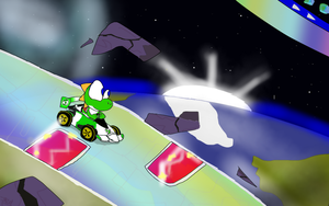 Ride Through The Stars - Rainbow Road by DeviantYoshi64