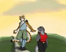 Out for a walk by Drake-TigerClaw