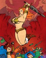 Battleground 'Curves' Teela by Lantern-Jaw