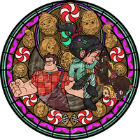 Stained Glass: Vanellope -Vector- by Akili-Amethyst