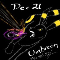 Dec 21 - Fav Battle Pkmn UMBREON by afrolady114