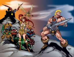 He-Man wrap around cover by MarcBourcier