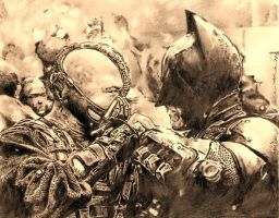 the dark knight rises - batman vs bane by tengari