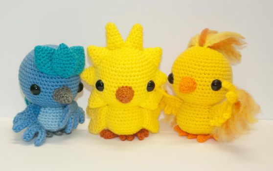 Kanto legendary Pokemon by Heartstringcrochet