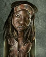 Michonne, Walking Dead by jonesmac2006