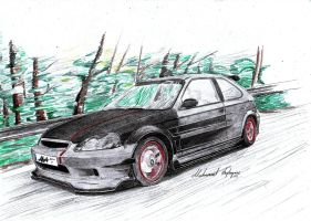 ''JDM'' Honda Civic EK9 by CptSky