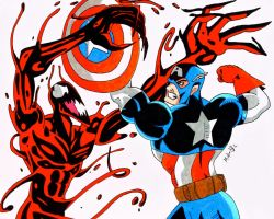 Captain America Vs Carnage by MikeES