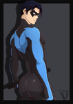 Nightwing Sketch Commission by GasaiV