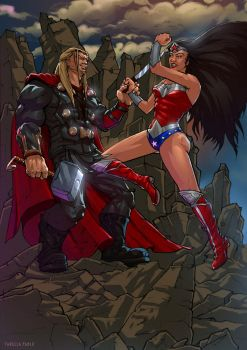 Thor and Wonder Woman by Tarees