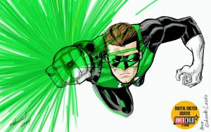 GREEN LANTERN digital sketch by mdavidct
