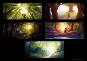 Fox Story Environments by autogatos