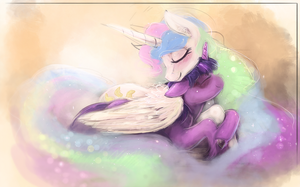 Celestia and Twilight by Banthatic