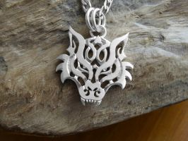 Celtic Wolf Pendant by merovech-navarre