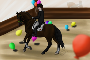 Balloon Dressage by Saerl