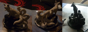 fox sculpture thingie WIP 4 by goiku